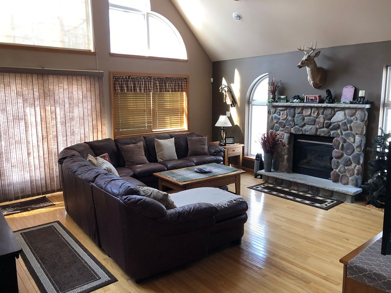 Relax and enjoy the open floor plan in the main living area