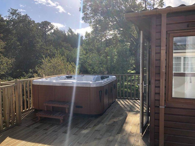 Cedar Creek luxury lodge situated in bockenfield country park, aluguéis de temporada em Felton