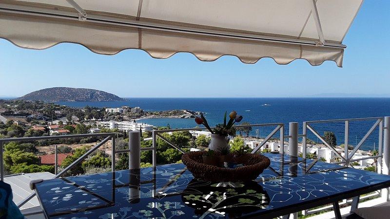 The breathtaking sea view in Saronida, holiday rental in Saronida