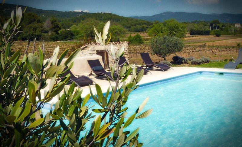 Maison avec piscine au pied du Luberon, holiday rental in Puget