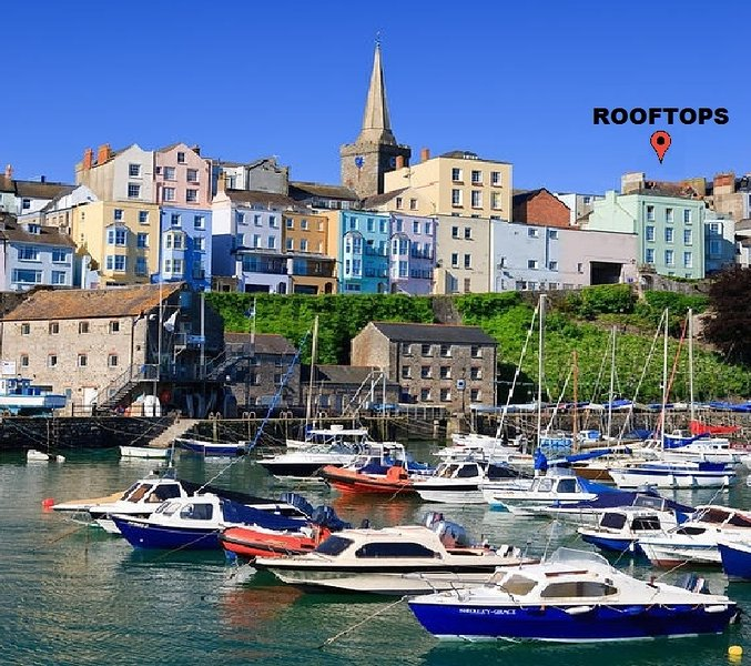 Rooftops, holiday rental in Tenby
