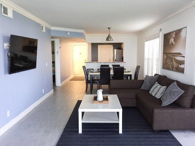 Sala de estar con sofá cama