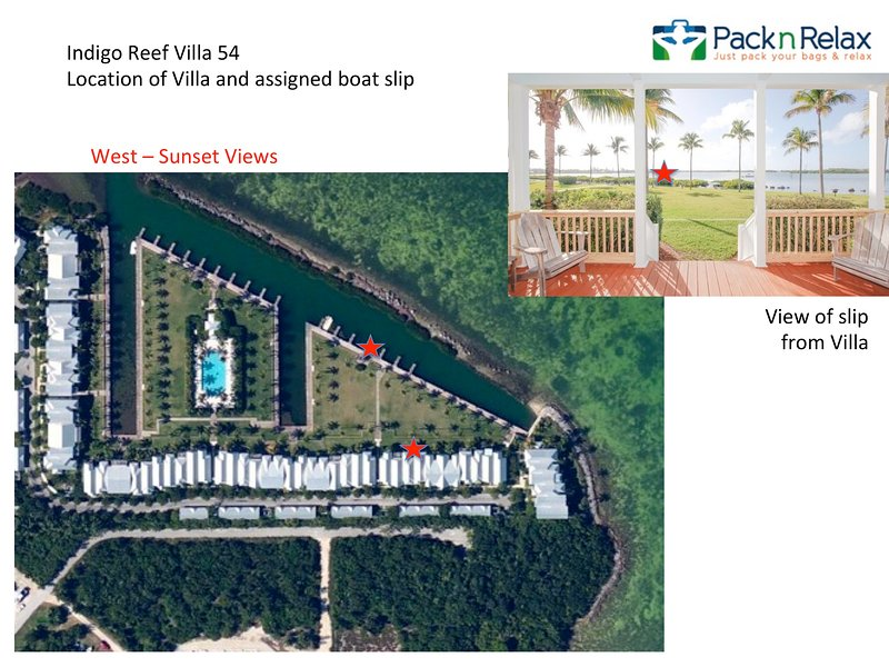 Waterfront luxury Villa (54) with sunset views and boat slip