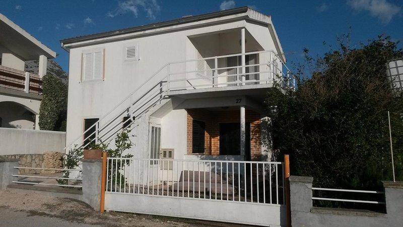 Two bedroom apartment Seline, Paklenica (A-17115-a), alquiler vacacional en Seline