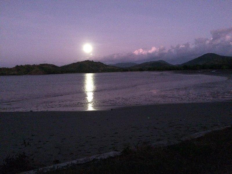 Full Moon Rising over Pelangan Bay.
