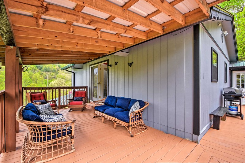 With a wraparound deck and natural views, this cabin can't be beat!