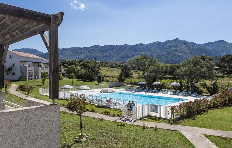Plongez dans la belle piscine extérieure en été.