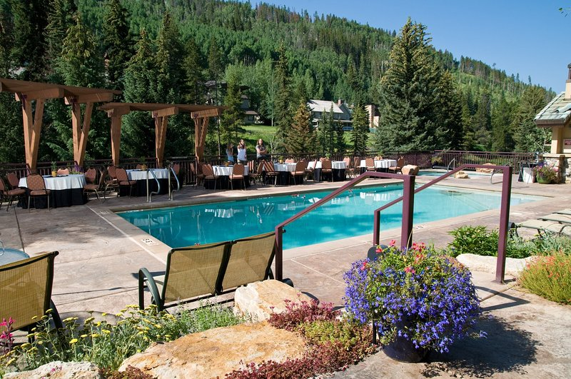 Dive into the lovely outdoor pool during the summertime!