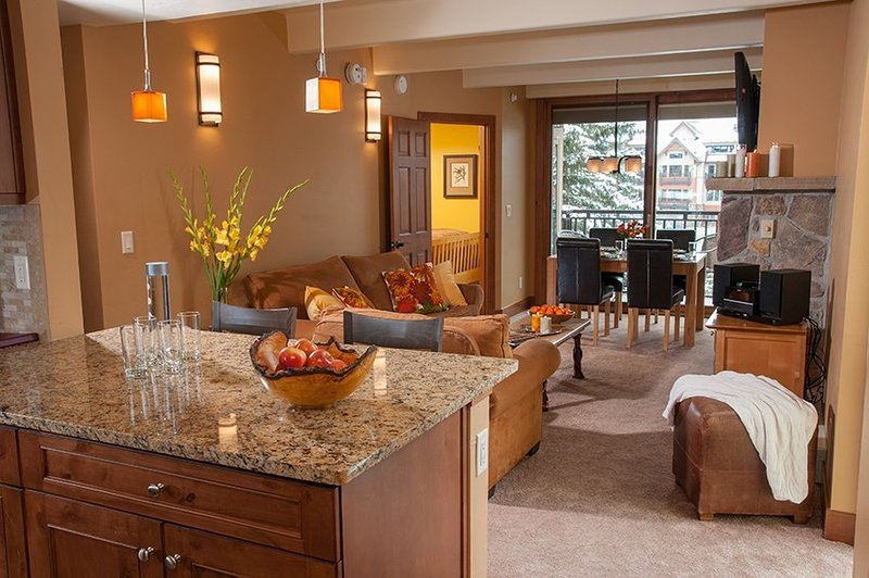 Sit back and relax in our cozy suite in Vail! (Photos are representative)