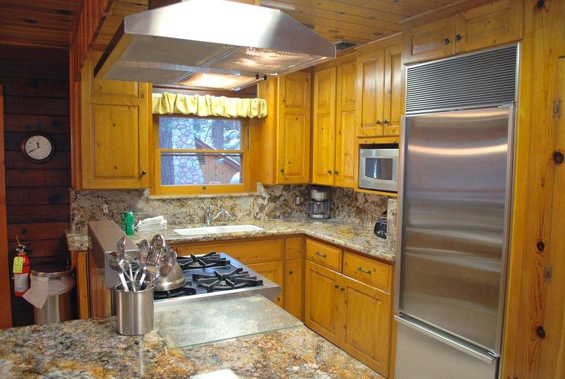 Kitchen with granite counter top, Wolf Range