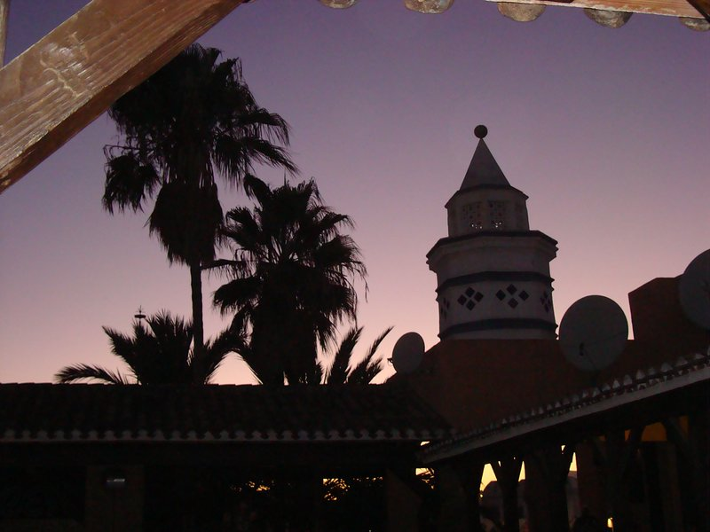 Sunset at the El Zoco centre