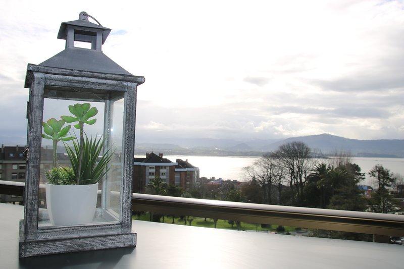 Vistas a la bahía desde la terraza