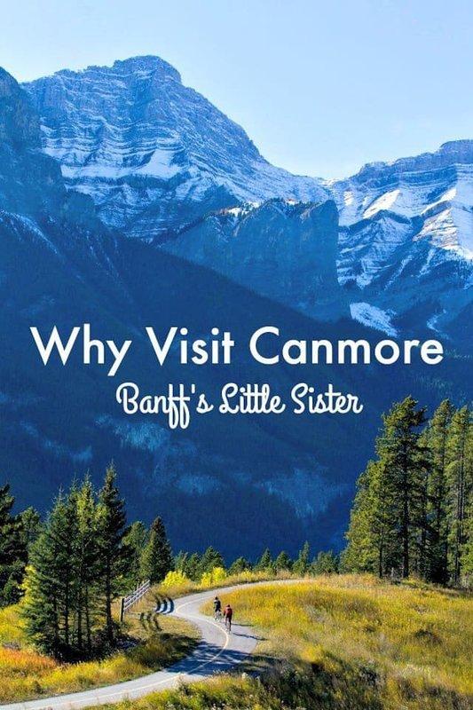 ¿Por qué Canmore? Menos cobardes, muchas tiendas y restaurantes, y tarifas de hotel más baratas.
