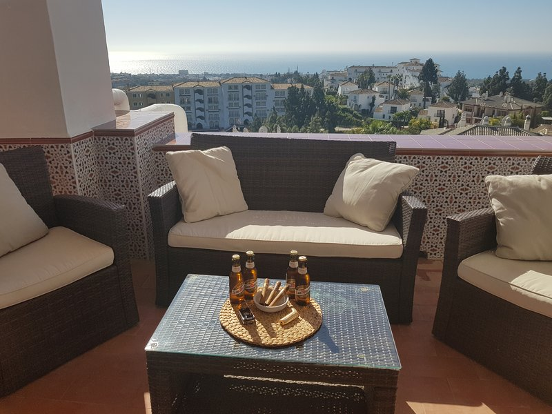 3 Zimmer, Meerblick, Calahonda nähe Marbella, Malaga, alquiler de vacaciones en Mijas