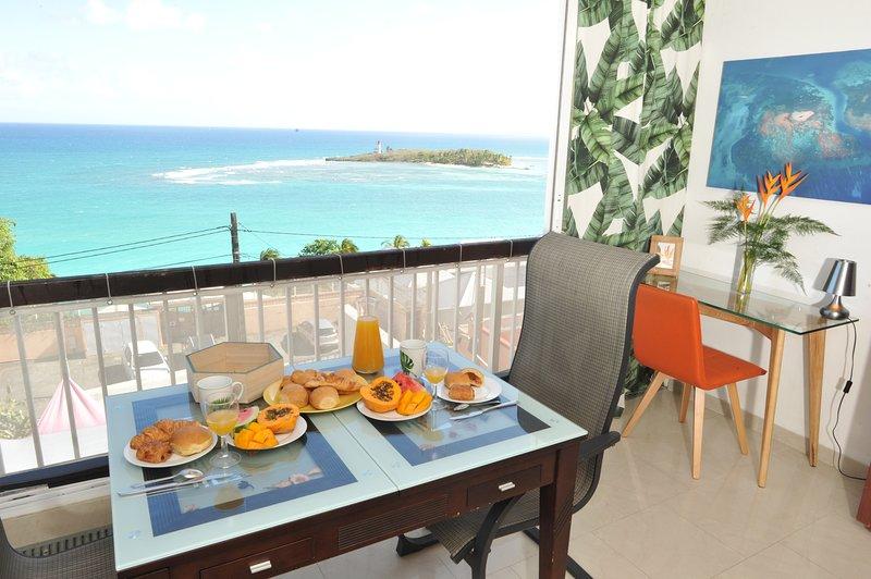 Le Panorama de L'îlet (Vue sur mer )[Gosier] [Grande-Terre], holiday rental in Le Gosier