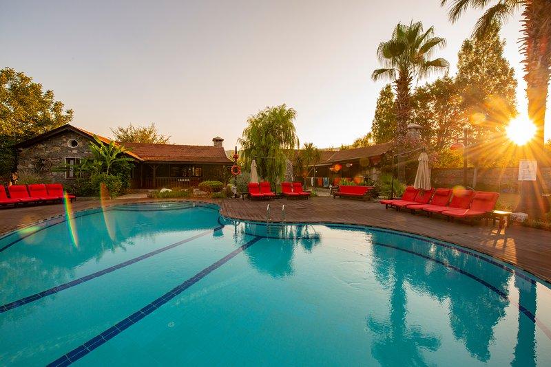 Kaya villas beautiful pool area with stunning views.