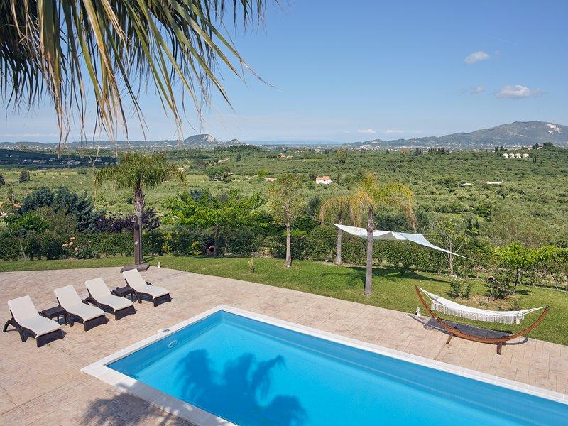 Palm Luxury Villa Zakynthos Romiri, holiday rental in Lagopodo