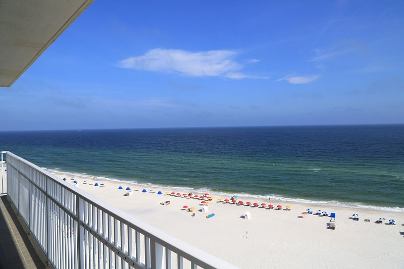Gulf front views from wrap around balcony!