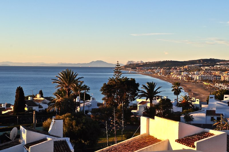 Amazing view from terrace at popular 'Vista Bahia', holiday rental in Casares del Sol