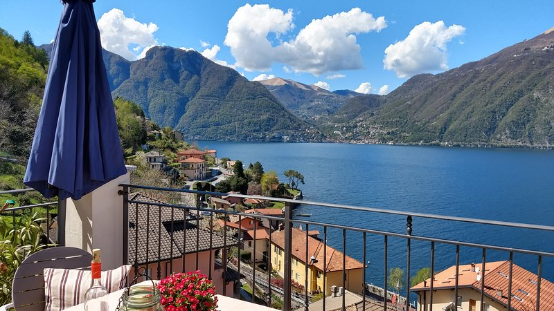 Beautiful apartment with amazing view on Lake Como, vacation rental in Lezzeno