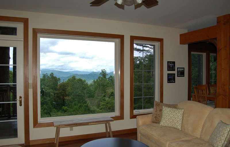 Picture Window in Living Room Offers Spectacular Views