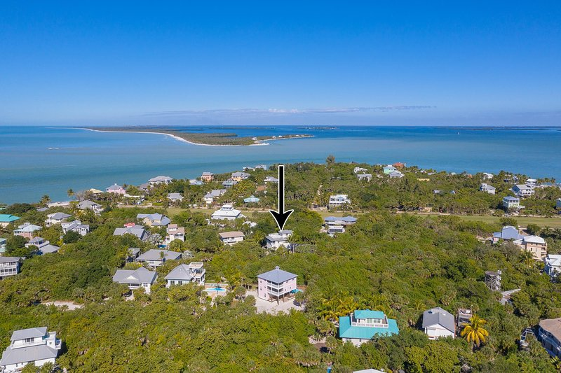Drone photo of location on island