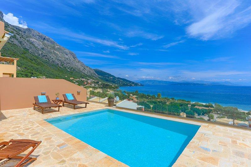 Villa Renata Gold: Fantastic villa located above Barbati Beach, sleeps 4, WiFi, holiday rental in Barbati