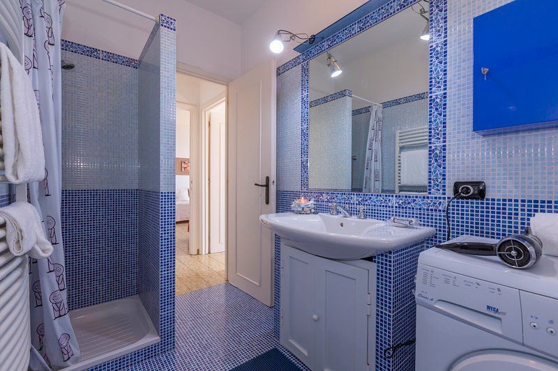 Bathroom with shower, bidet and WC