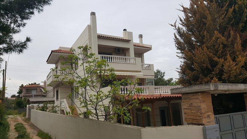 Big Quiet Villa near the sea and the airport, vacation rental in Artemida