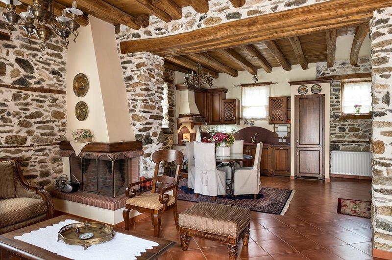 Luxury Family Premium Stone House 130m², holiday rental in Paralia Ofriniou