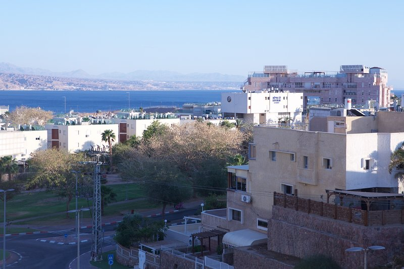 Stunning Views of The Red Sea From The Living of Tranquil View Holiday Rentals.