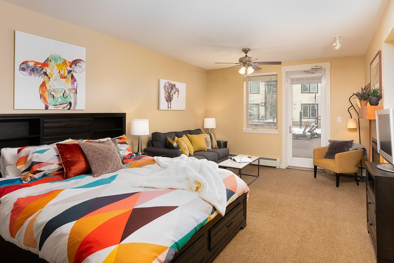 Large studio with walkout to Founders Pointe amenity deck