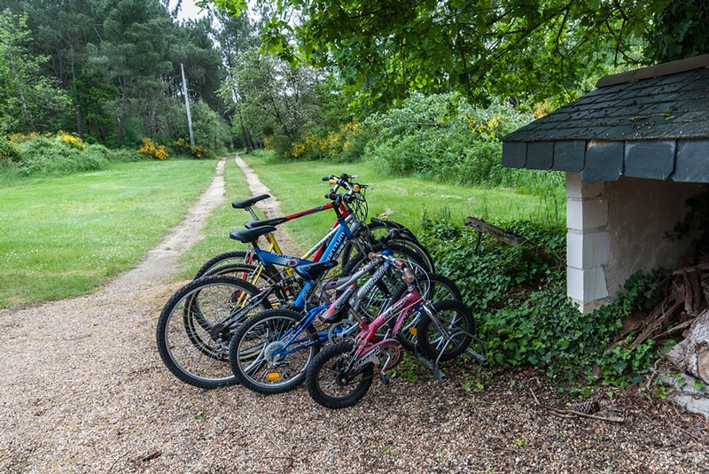 Plenty of bikes of all sizes for our guests to use free of charge