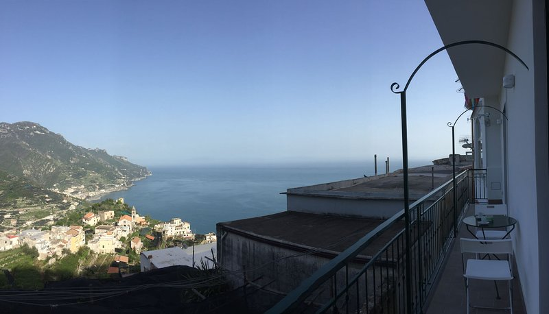 The balcony and the view