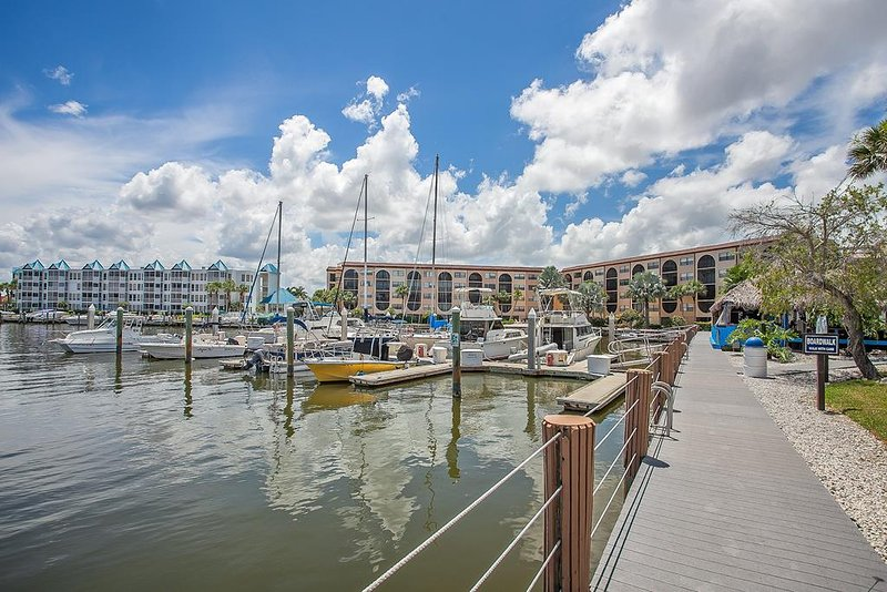 Walk way to Boat Docks and Dolphin Tiki