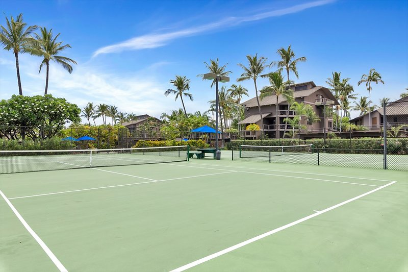 Perfectly maintained tennis courts!