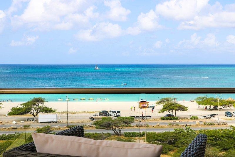 PROMO- BEACH VIEW - EAGLE BEACH - LEVENT RESORT - Royal Beach View 2BR condo - L, vacation rental in Aruba