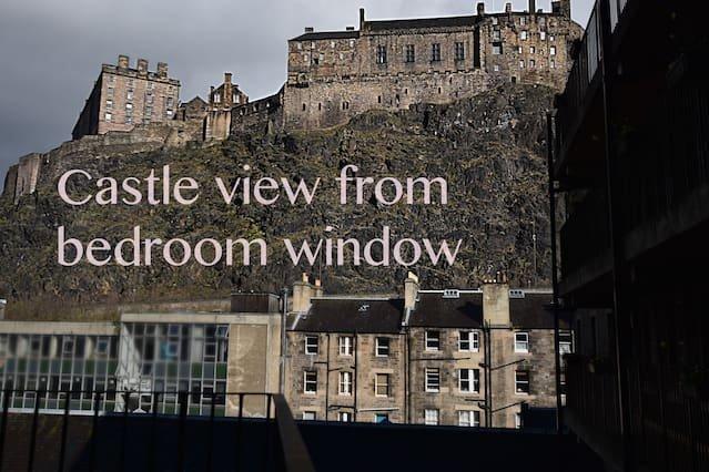 Splendida vista sul castello dalla finestra della camera