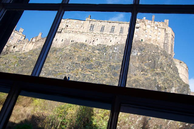 Castle View from the window seat