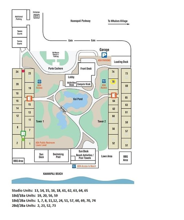 Property Map and Location of Unit #370