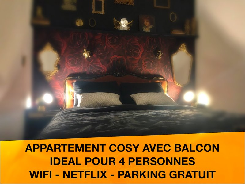 Appartement cosy - chambre romantique et balcon, holiday rental in Tournai