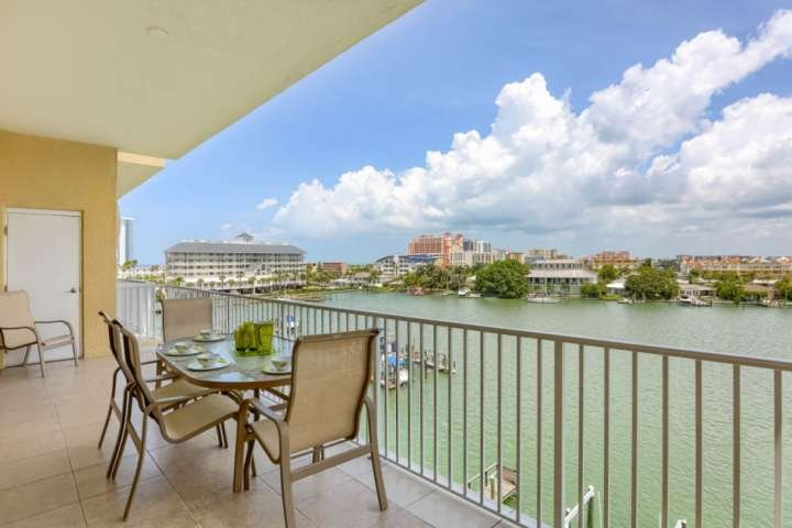 Dine on the Private, Covered Balcony While Enjoying the View of Clearwater Harbor