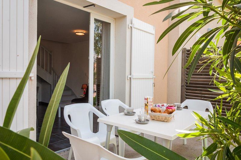 Profitez du soleil sur votre balcon ou votre terrasse.