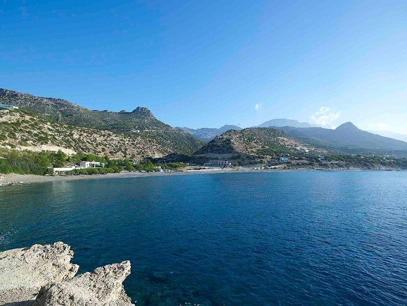 Beachfront Villa in Ierapetra Crete '' Kirvas Villa '', casa vacanza a Ferma
