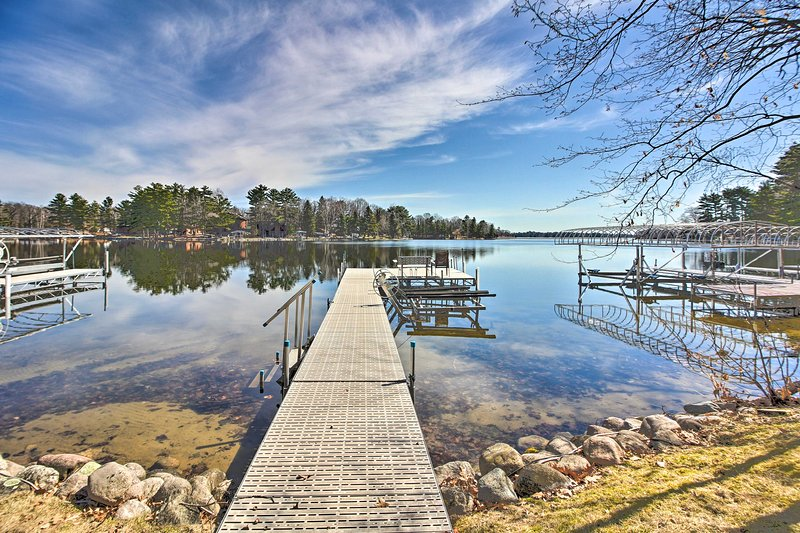 This waterfront cabin is located in Crosslake and has its own dock!