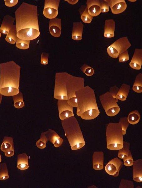 Thai Lanterns on Bang Tao Beach.