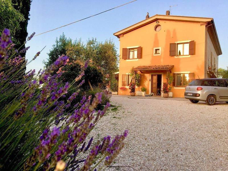 Locanda della Lavanda in Romagna guardando il mare immersi in un verde relax, holiday rental in Passano