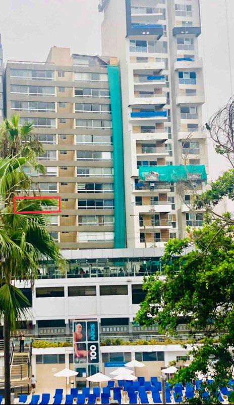 L'edificio con vista esterna include vista sul Tenis Terrazas Club il 10 maggio 2019. Scatola rossa, appartamento airbnb. Vista