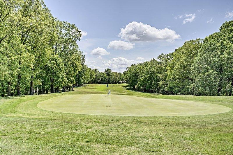 ¡El golf está cerca en el resort!