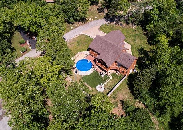 Veduta aerea della casa